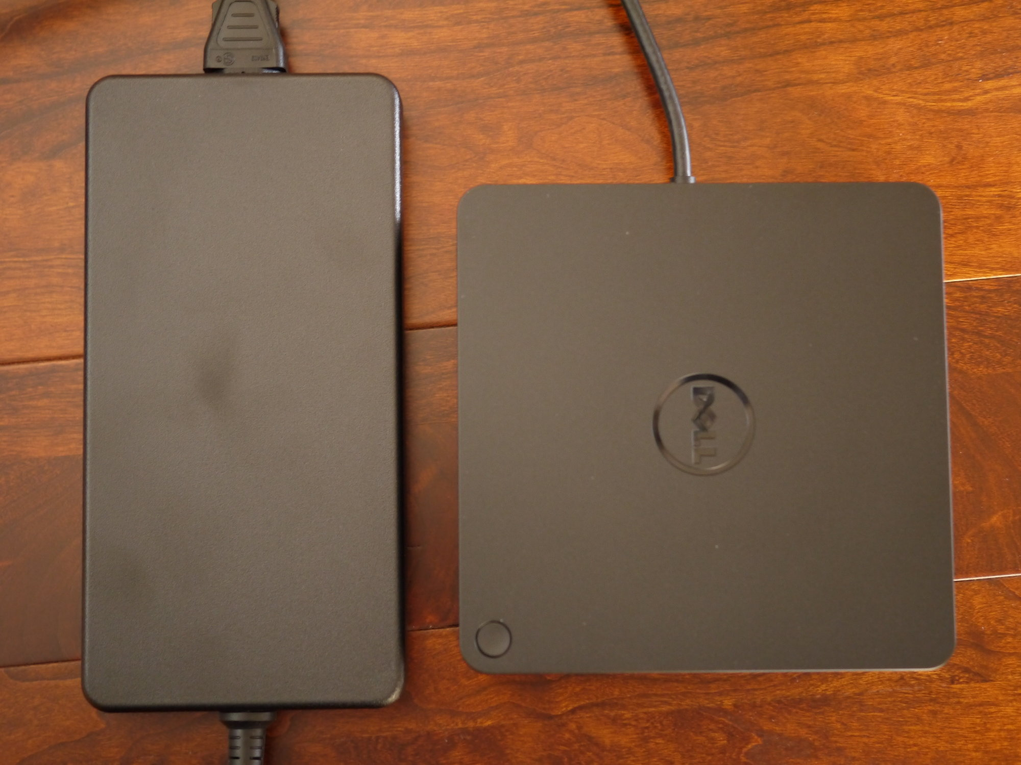 The 240W power brick and the TB15 side by side